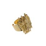 Scritture, anello, bronzo dorato