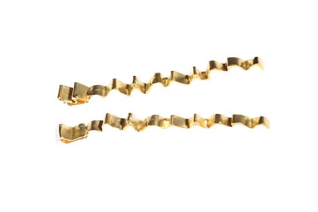 Pieghe, orecchini, bronzo dorato