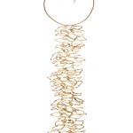 Fossili, collana, bronzo dorato