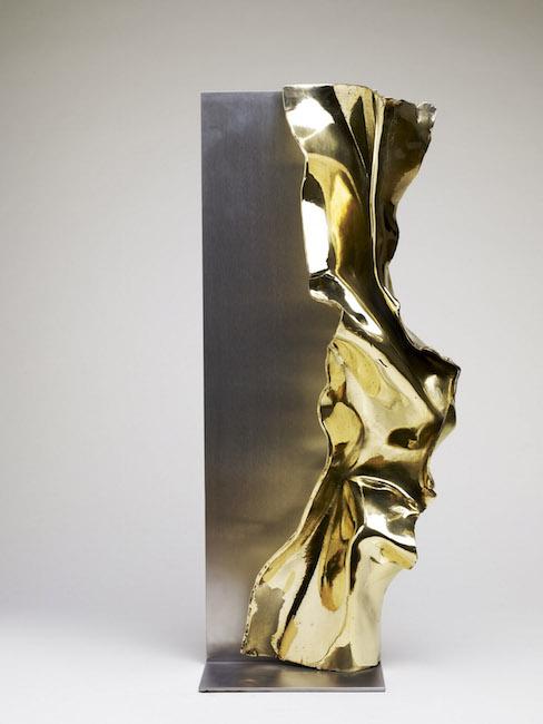 Nuova nascita, 2009, acciaio, bronzo, 80 x 16 x 24 cm
