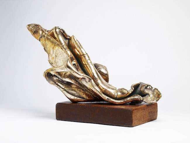 Nuova nascita, 1990, bronzo e legno, 40 x 20 x 30 cm