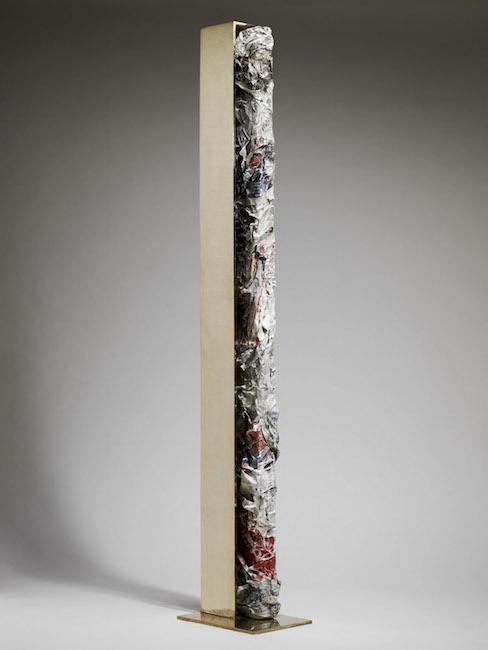 Nuova nascita, 2009, bronzo, polimaterico, 145 x 20 x 31 cm