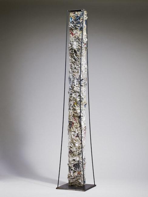 Nuova nascita, 2008, ferro, polimaterico, 143, 25 x 25 cm